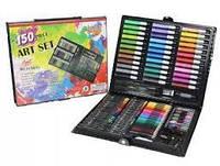 Детский набор для рисования Just Art на 150 предметов с мольбертом в чемоданчике художественный для творчества