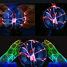 Плазменный шар молния Plasma ball,плазменный шар Тесла 5 см,ночник молния,светильник-антистрес, фото 2