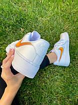 "Кросівки Nike Air Force 1 Rucker Park ""Білі/Помаранчеві"", фото 2"