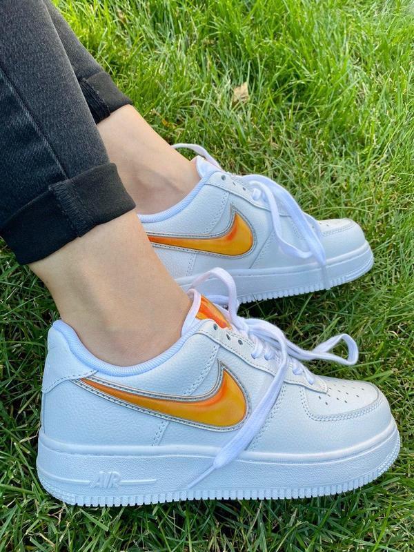 """Кросівки Nike Air Force 1 Rucker Park """"Білі/Помаранчеві"""""""