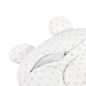 Детская хлопковая ортопедическая подушка Lovely Baby U1 White с наполнителем из гречневой шелухи, фото 2