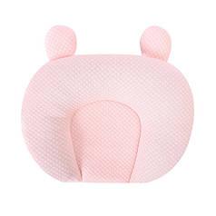 Дитяча бавовняна ортопедична подушка Lovely Baby U1 Light Pink з наповнювачем з гречаного лушпиння
