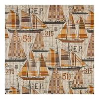 Ткань хлопок Испания с рисунком корабли