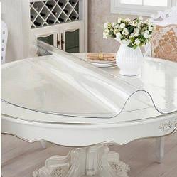 Круглая скатерть мягкое стекло Soft Glass Покрытие на круглый стол Диаметр - 1.2м (толщина 0.5 мм) Прозрачная