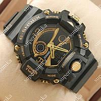 Стильные наручные часы G-Shock Triple Sensor Black/Gold 699