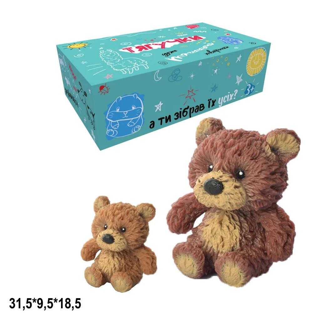 Ведмідь силіконовий Гонконг  тягучка 2 види в коробці A185-617