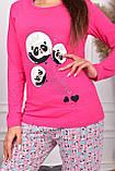 Піжама жіноча рожева кофта та штани код П220, фото 2