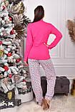 Піжама жіноча рожева кофта та штани код П220, фото 3