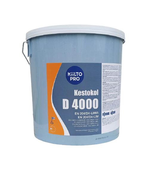 Клей Kestokol D4000 Kiilto (16 кг) Столярный водостойкий клей для дерева ПВА Д4  Кестокол D4000 Киилто
