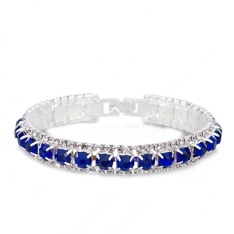 Женский браслет с синими кристаллами код 1995