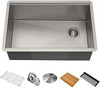 Кухонная мойка с аксессуарами KRAUS KWU110-27 Kore
