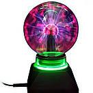 Плазменный шар молния Plasma ball,плазменный шар Тесла 10 см,ночник молния,светильник-анистрес, фото 3
