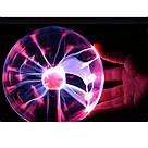 Плазменный шар молния Plasma ball,плазменный шар Тесла 10 см,ночник молния,светильник-анистрес, фото 5