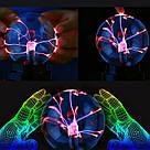 Плазменный шар молния Plasma ball,плазменный шар Тесла 12 см,ночник молния,светильник-анистрес, фото 2