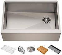 Кухонная мойка с аксессуарами KRAUS KWF410-30 Kore