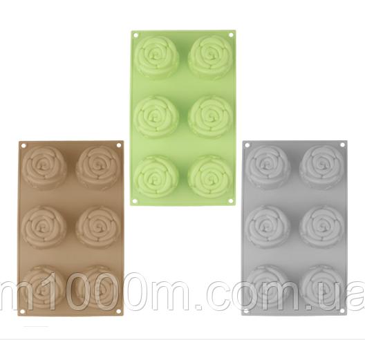 Форма для выпечки Розы 29*17*4 см Пастель 20079