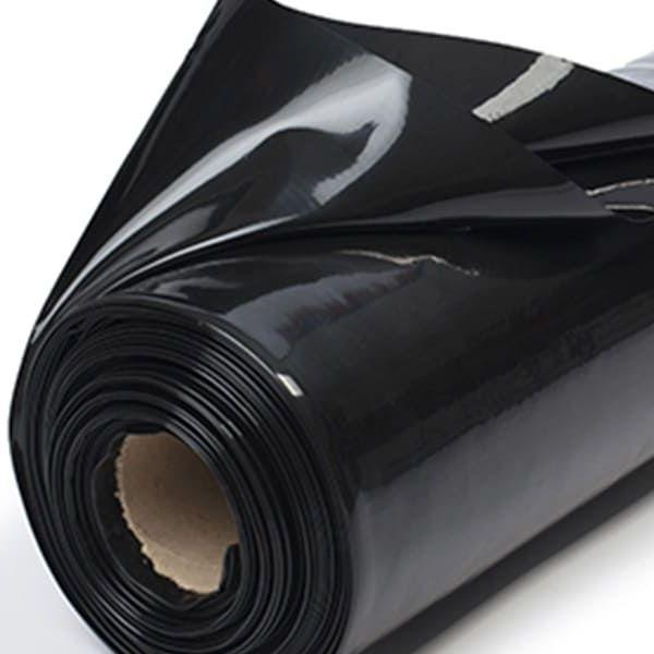 Пленка полиэтиленовая плотная черная 200 мкм ( 6 м х 50 м.п)