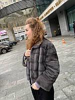 Жіноча шуба норкова розмір М L XL бомбер з фінської норки