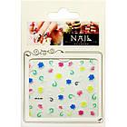 Самоклеящиеся Наклейки для Ногтей 3D Nail Stickers FP-Н-04, Разноцветные Цветы с Завитками, Ногти, Маникюр, фото 3