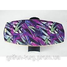 Балансборд Ex-board Градиент черный валик 13 см в резине (ex010-2), фото 2