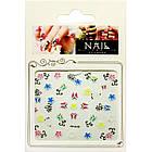Самоклеящиеся Наклейки для Ногтей 3D Nail Stickers FP-Н-05 Бабочки, Цветы, Завитки, Декор Дизайн Ногтей, фото 3
