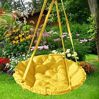 Подвесные качели для дачи Yellow Time Textile желтый TT078