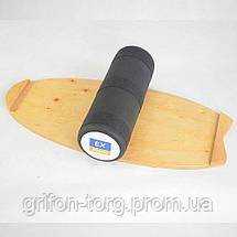 Балансборд Ex-board Surf Snowboard черный валик 16 см литой (ex71), фото 3
