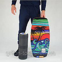 Балансборд Ex-board Californiya черный валик 16 см литой (ex67), фото 3
