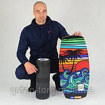 Балансборд Ex-board Californiya черный валик 16 см литой (ex67), фото 2
