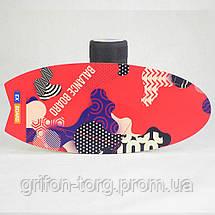 Балансборд Ex-board Surf Red черный валик 16 см литой (EX73), фото 2