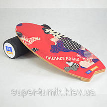 Балансборд Ex-board Surf Red черный валик 16 см литой (EX73), фото 3