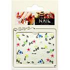 Самоклеящиеся Наклейки для Ногтей 3D Nail Stickers FP-Н-06, Разноцветные Цветы с Завитками, Ногти, Маникюр, фото 4