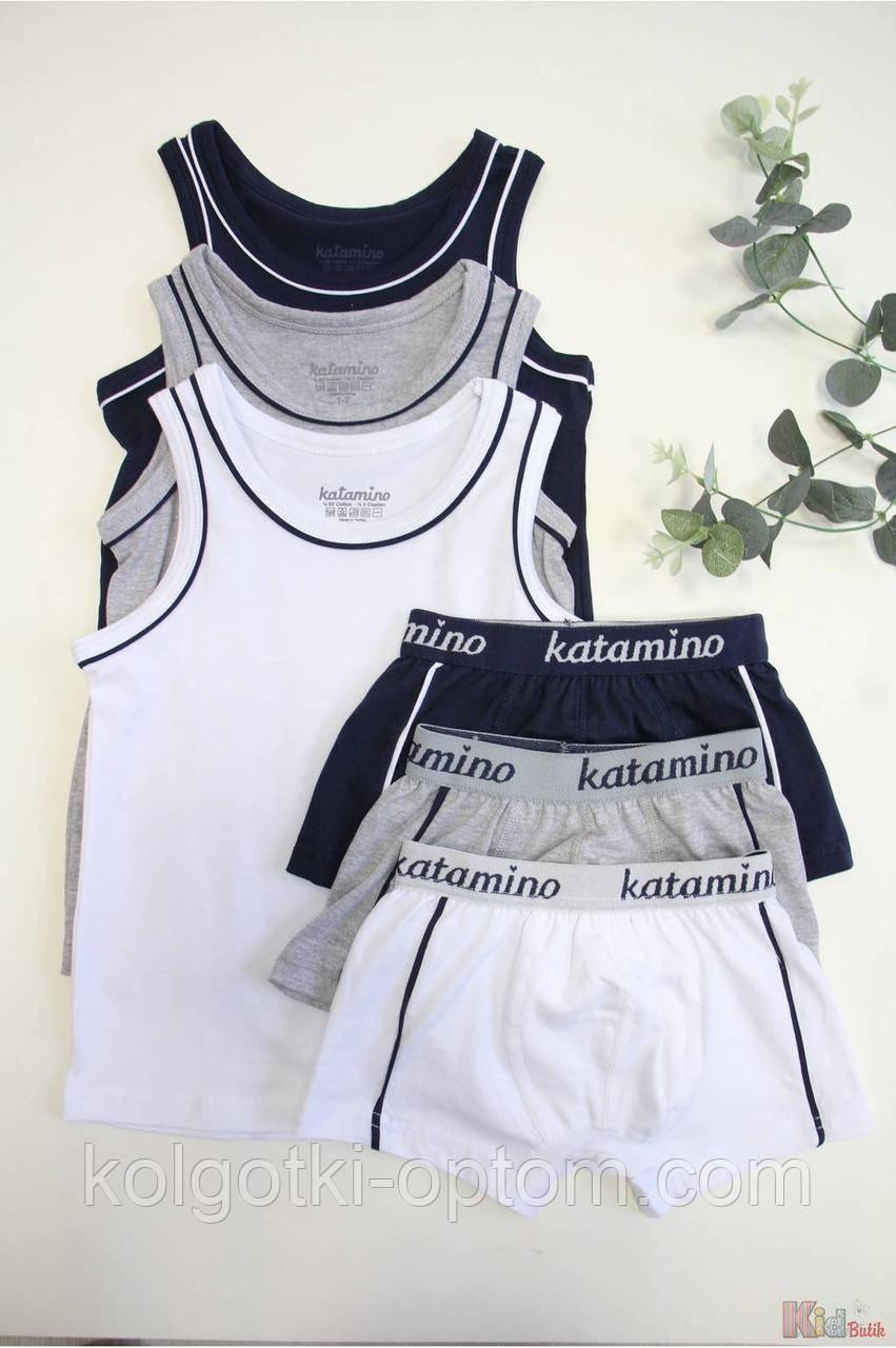 """ОПТОМ Комплект белья майка и трусы """"Кант"""" для мальчика 9-10 лет (9-10 лет)  Katamino 8680652273261"""