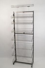 Стелаж універсальний односторонній щоб лежати, 180х60 графіт (Гермес)