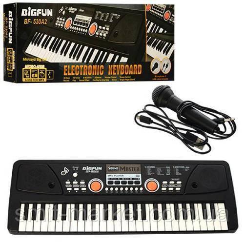 Синтезатор BF-530A2 49 клавіш, мікрофон, USB, mp3, запис
