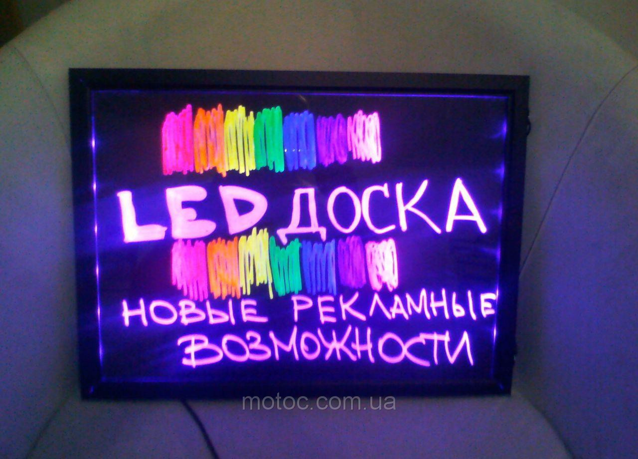LED доска 40 x 60 см, Sparkle Board, Flash панель, Neon board