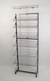 Стелаж універсальний односторонній щоб лежати, 180х60 білий (Гермес)