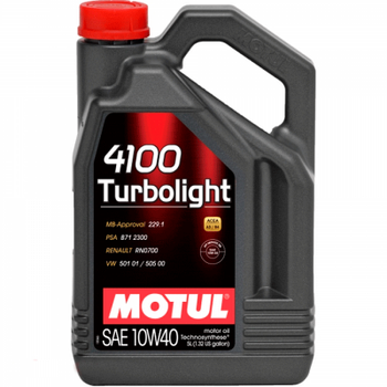 Моторное масло Motull 4100 Turbolight 10W-40 5л