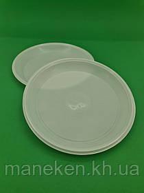 Тарілка одноразова діаметр 205мм ПП біла PGU (100 шт)