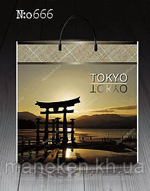 """Пакет з пластиковою ручкою """"Токіо"""" без ручки (10 шт)"""