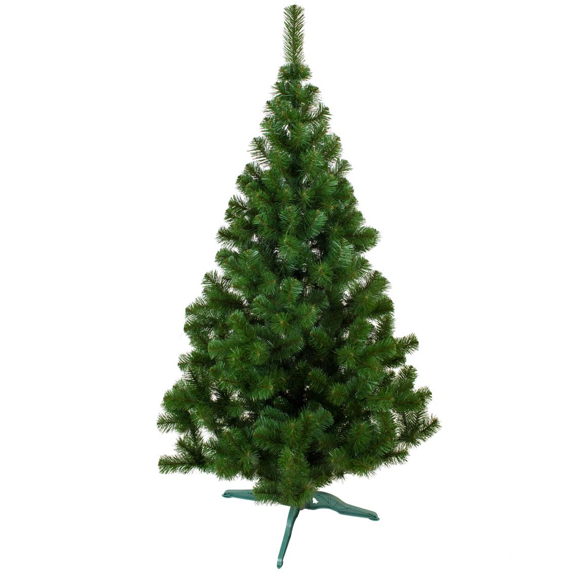 Новогодняя Ель 1.5 метра искусственная. Лесная  Елка ПВХ 1.5 м зеленая