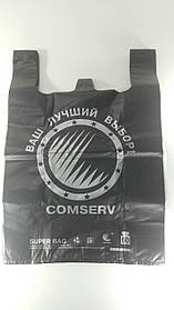"""Пакет 40х60 """"БМВ"""" Сomserv чорний (100 шт)"""