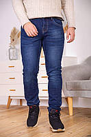 Джинсы мужские 129R3018 цвет Темно-синий
