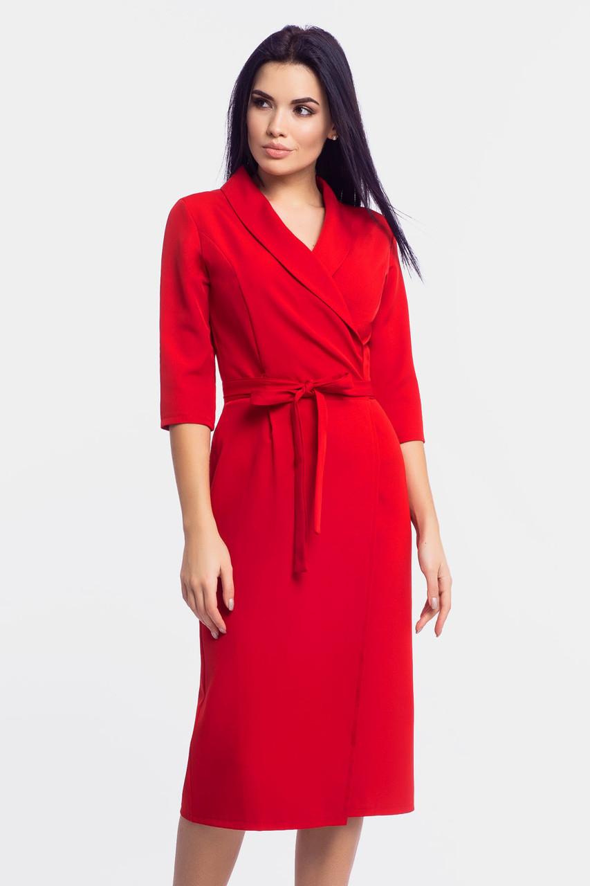 S, M, L | Жіноче плаття на запах Barbara, червоний