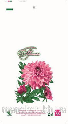 Пакет майка полиэтиленовая (тип FA)  30*55 Цветы  ''Комсерв'' (100 шт), фото 2