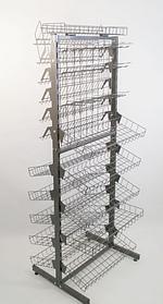Стелаж універсальний двосторонній щоб лежати, 180х60 графіт (Гермес)