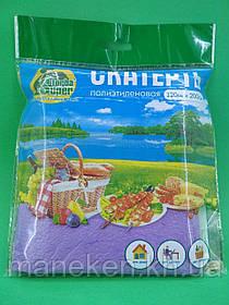 Скатерть п/э (120x200)  Супер торба  сиреневая (1 шт)