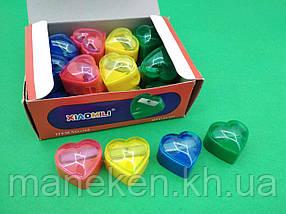 Точилка для олівців 165(6608)Сердечко (1 шт)