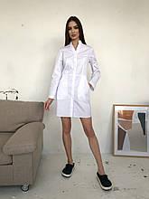 """Медицинский халат """"Николь"""". Белый. Рукав длинный"""