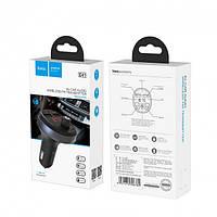 Автомобильный FM модулятор HOCO E41 Bluetooth + зарядное устройство 2xUSB 2.1A, трансмиттер для авто Черный